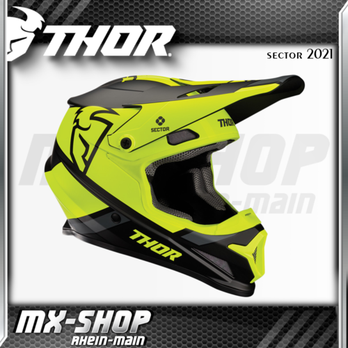 THOR MX-Helm SECTOR SPLIT BLACK/ACID MIPS 2021