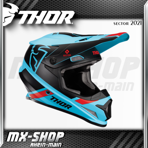 THOR MX-Helm SECTOR SPLIT BLUE/BLACK MIPS 2021