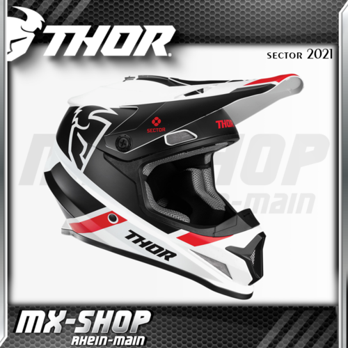 THOR MX-Helm SECTOR SPLIT WHITE/BLACK MIPS 2021