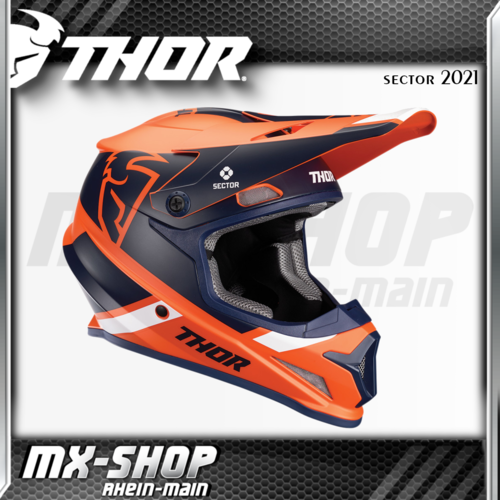 THOR MX-Helm SECTOR SPLIT ORANGE/NAVY MIPS 2021