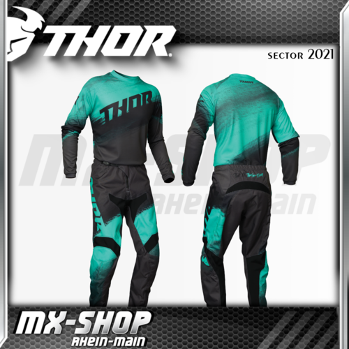 THOR Kinder MX-Jersey & Hose SECTOR VAPOR MINT/CHARCOAL 2021