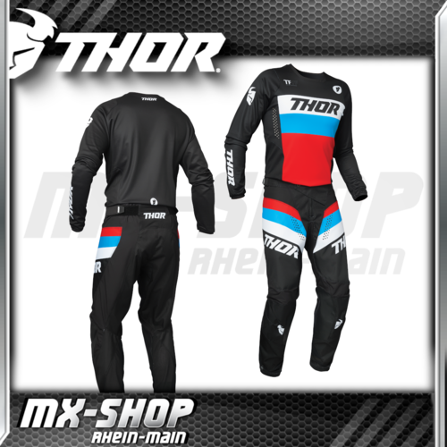 THOR MX-Combo PULSE RACER black/red/blue 2021