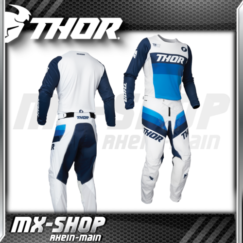 THOR MX-Combo PULSE RACER white/navy 2021
