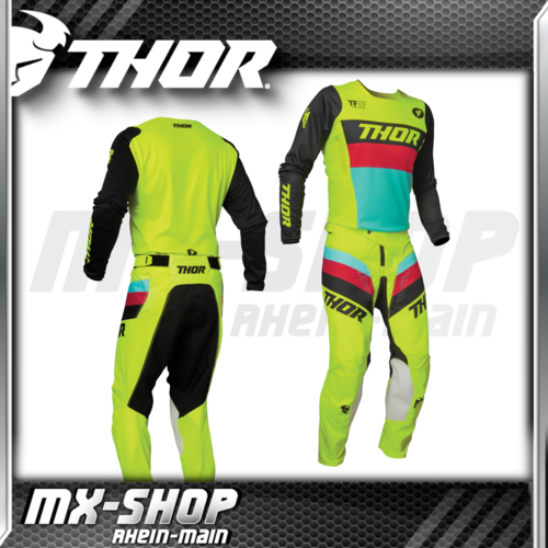 THOR MX-Combo PULSE RACER acid/black 2021