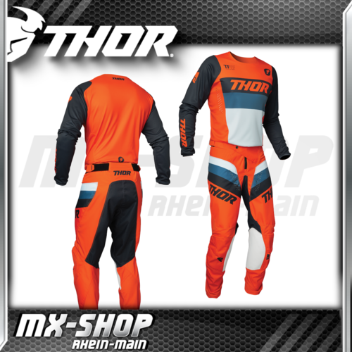 THOR MX-Combo PULSE RACER orange/midnight 2021