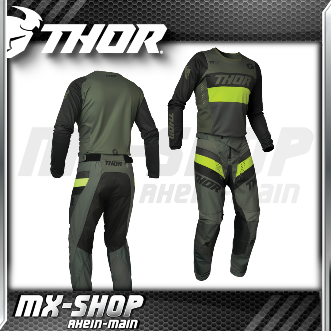 THOR MX-Combo PULSE RACER army/green 2021