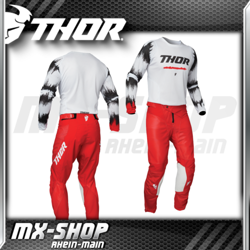 THOR MX-Combo PULSE AIR RAD white/red 2021