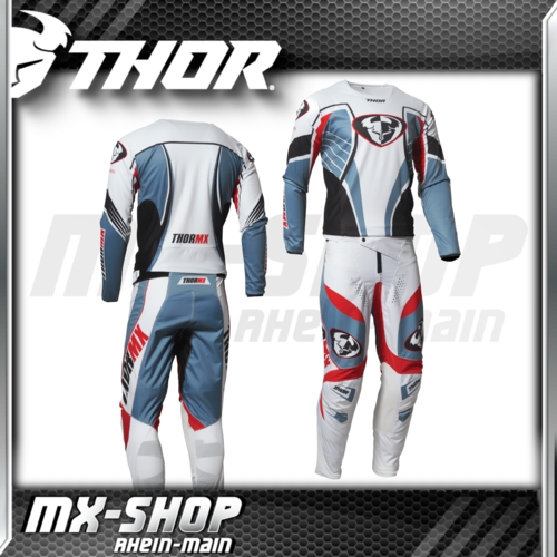THOR MX-Jersey & Hose PULSE 03 LE Steel/Red